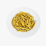 Patates kızartması tabağı 3d model