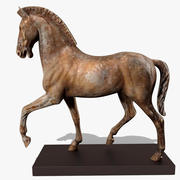 Horse Statuette (X) 3d model