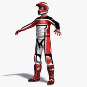 Piloto de motocross 3d model