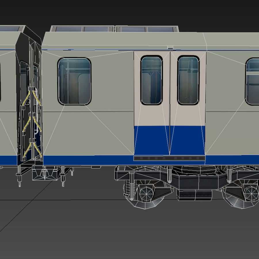 지하철 + 실내 royalty-free 3d model - Preview no. 9