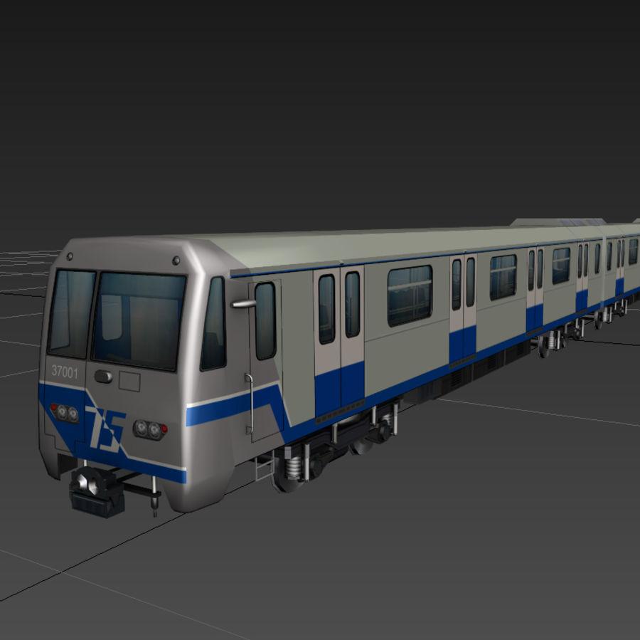 지하철 + 실내 royalty-free 3d model - Preview no. 2