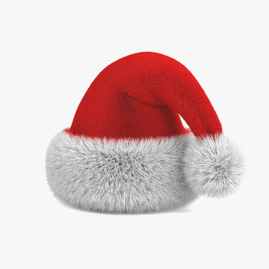 Boné de Papai Noel royalty-free 3d model - Preview no. 2
