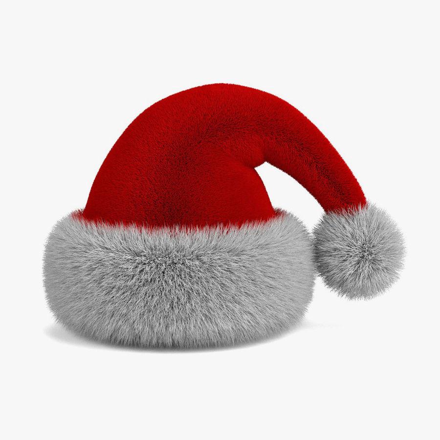 Boné de Papai Noel royalty-free 3d model - Preview no. 3