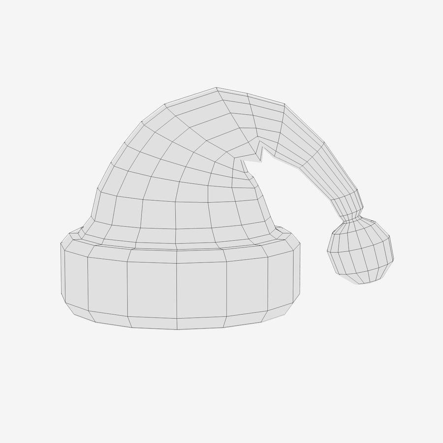 Boné de Papai Noel royalty-free 3d model - Preview no. 4