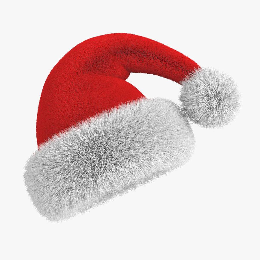 Boné de Papai Noel royalty-free 3d model - Preview no. 1