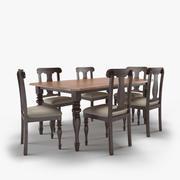 ダイニングテーブルと椅子 3d model