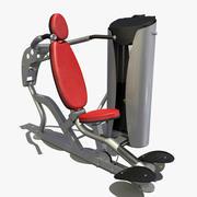 Presse d'épaule de gymnastique 3d model