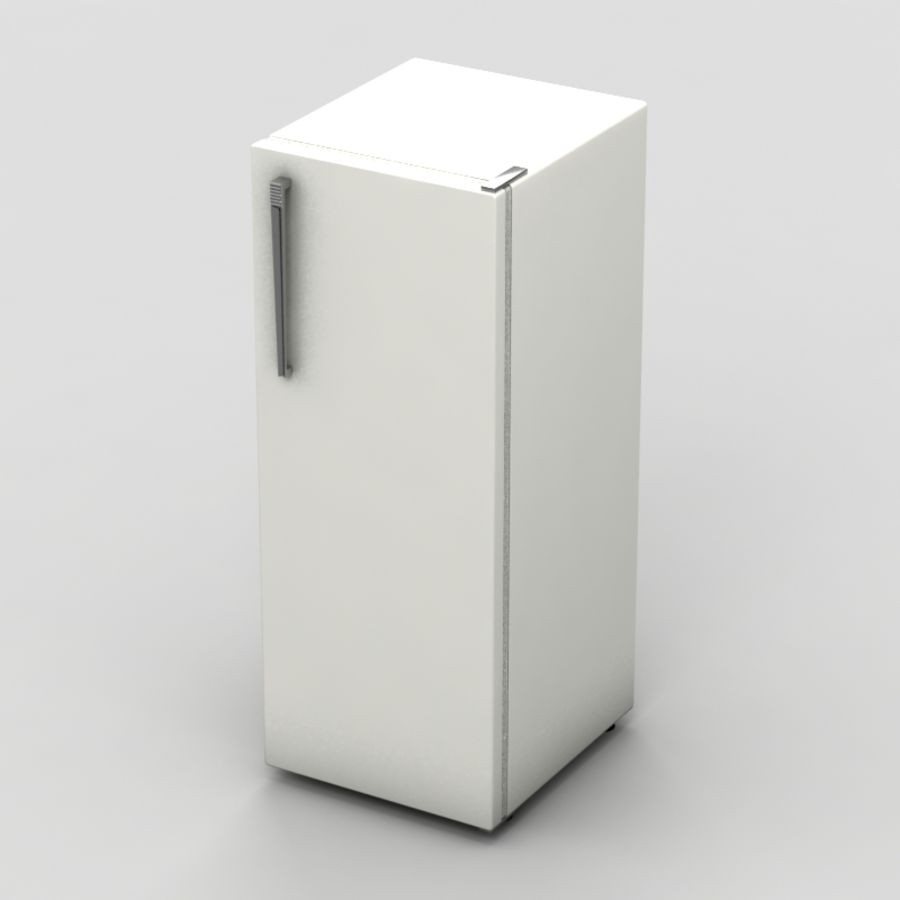Old Fridge royalty-free 3d model - Preview no. 4