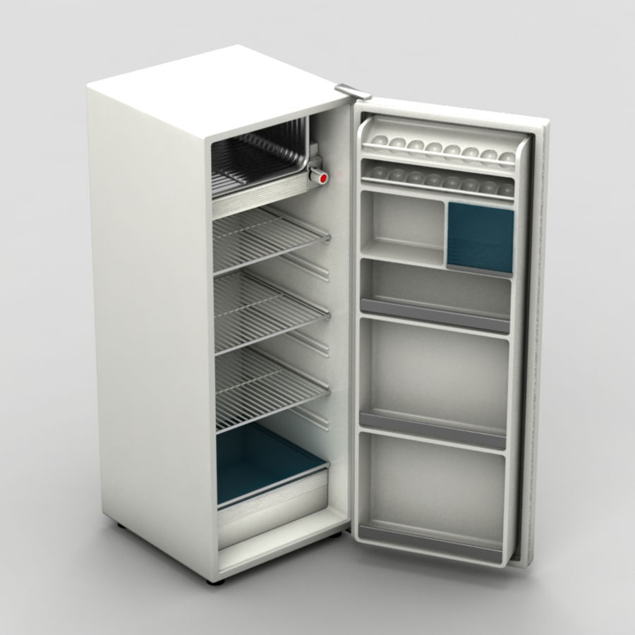 Old Fridge royalty-free 3d model - Preview no. 1
