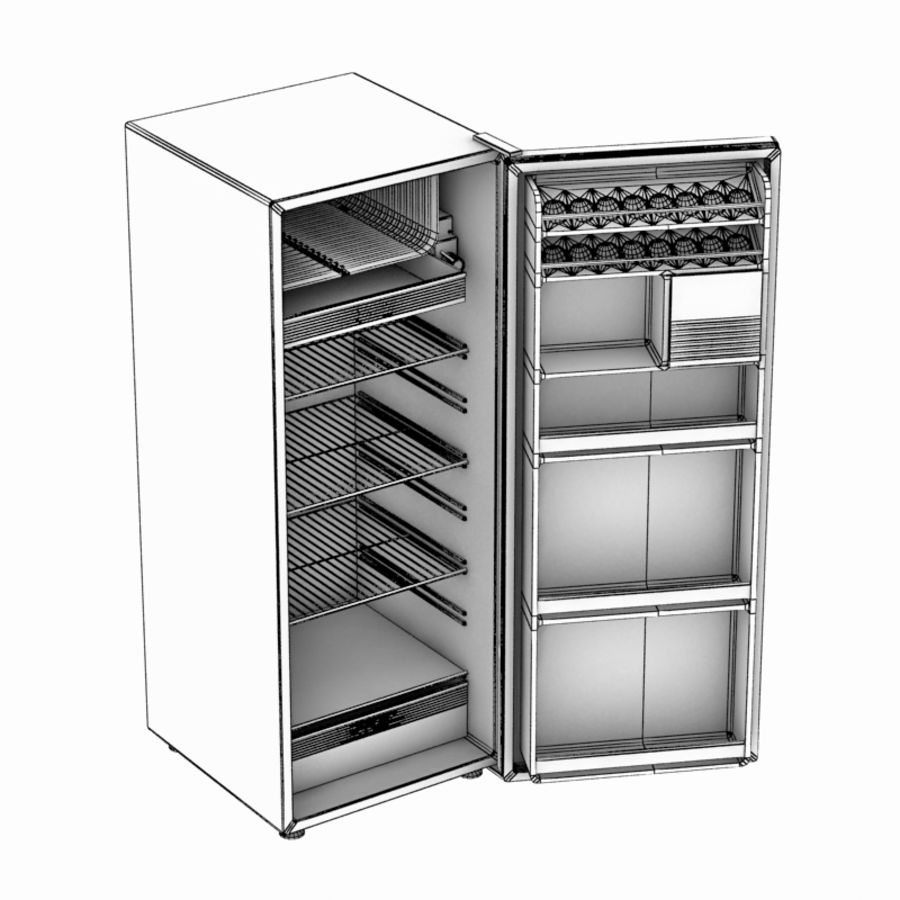 Old Fridge royalty-free 3d model - Preview no. 6