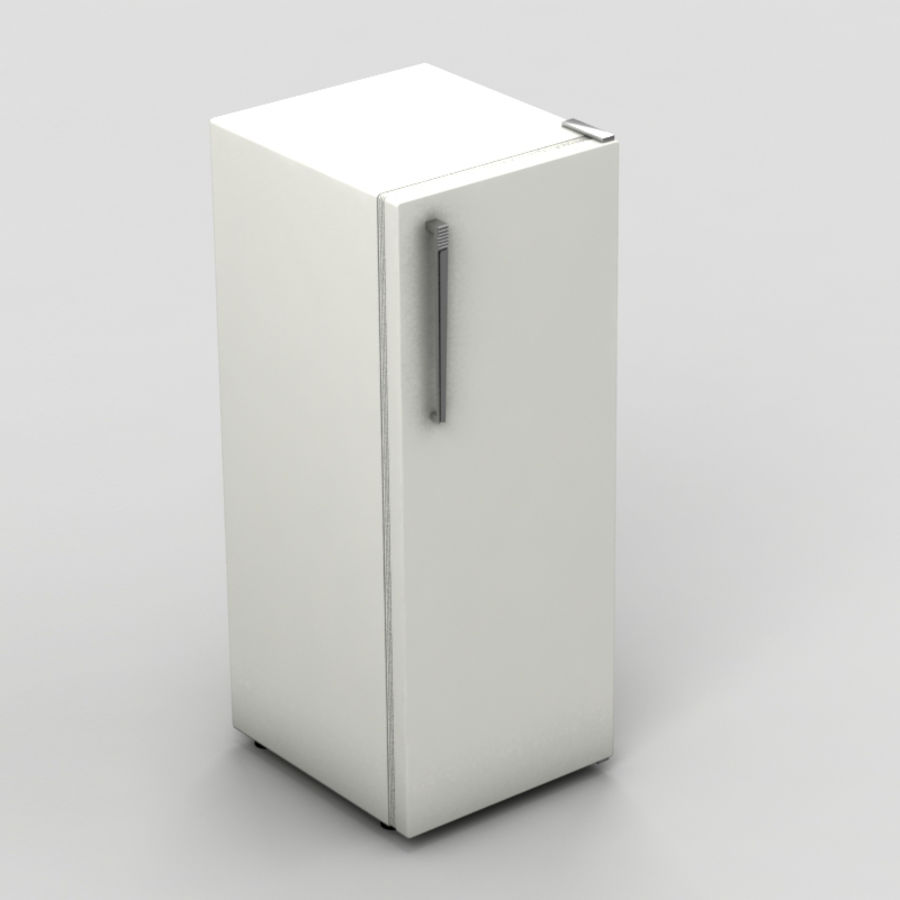 Old Fridge royalty-free 3d model - Preview no. 2