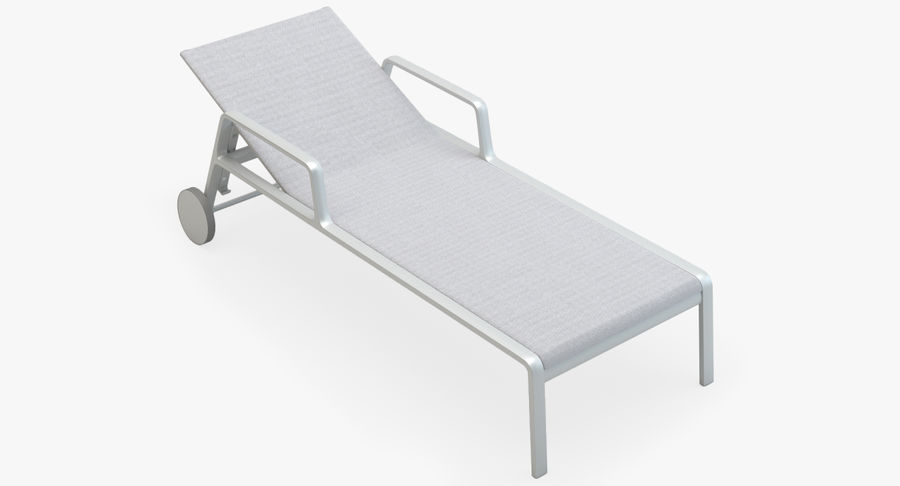 Park Life Deckchair royalty-free 3d model - Preview no. 2