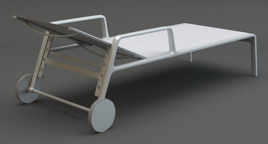 Park Life Deckchair royalty-free 3d model - Preview no. 6