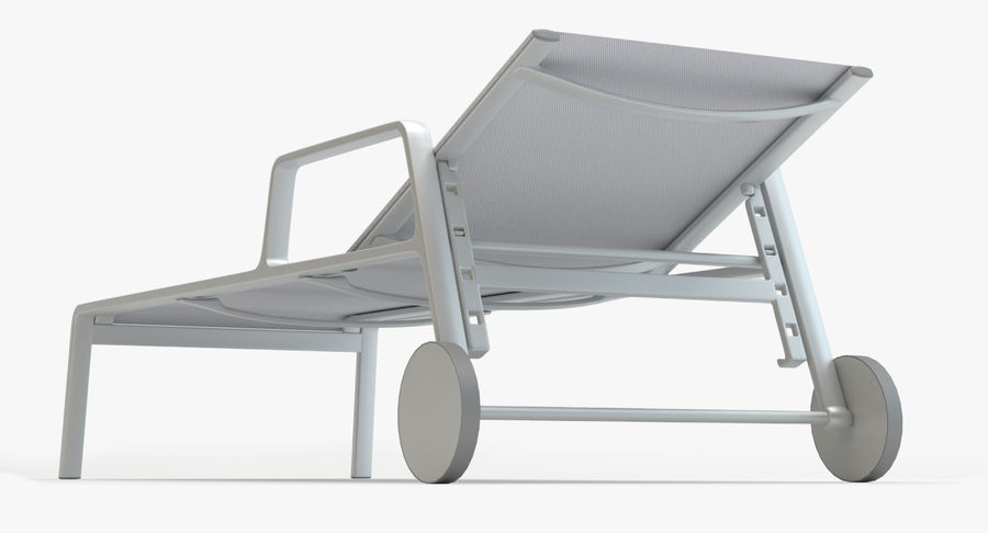 Park Life Deckchair royalty-free 3d model - Preview no. 7