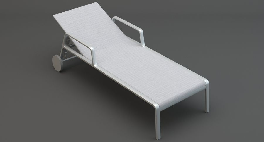 Park Life Deckchair royalty-free 3d model - Preview no. 3