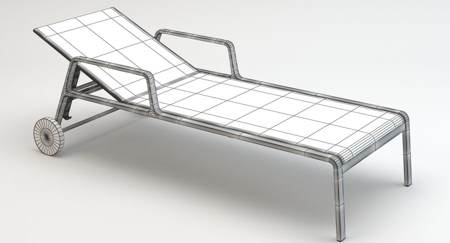 Park Life Deckchair royalty-free 3d model - Preview no. 12