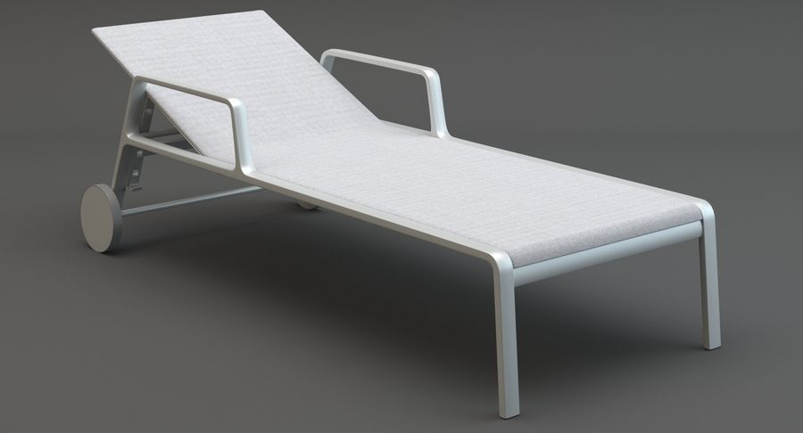 Park Life Deckchair royalty-free 3d model - Preview no. 4