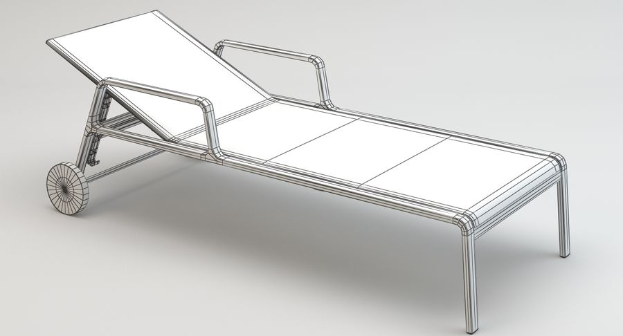 Park Life Deckchair royalty-free 3d model - Preview no. 13