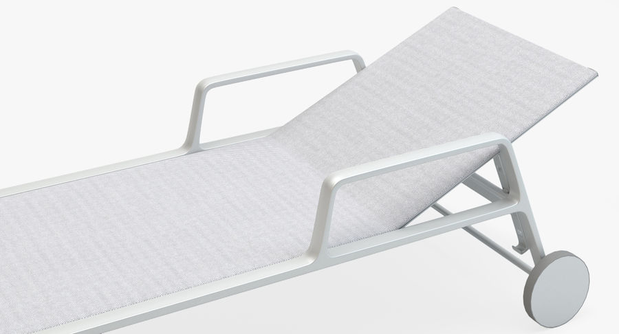 Park Life Deckchair royalty-free 3d model - Preview no. 9