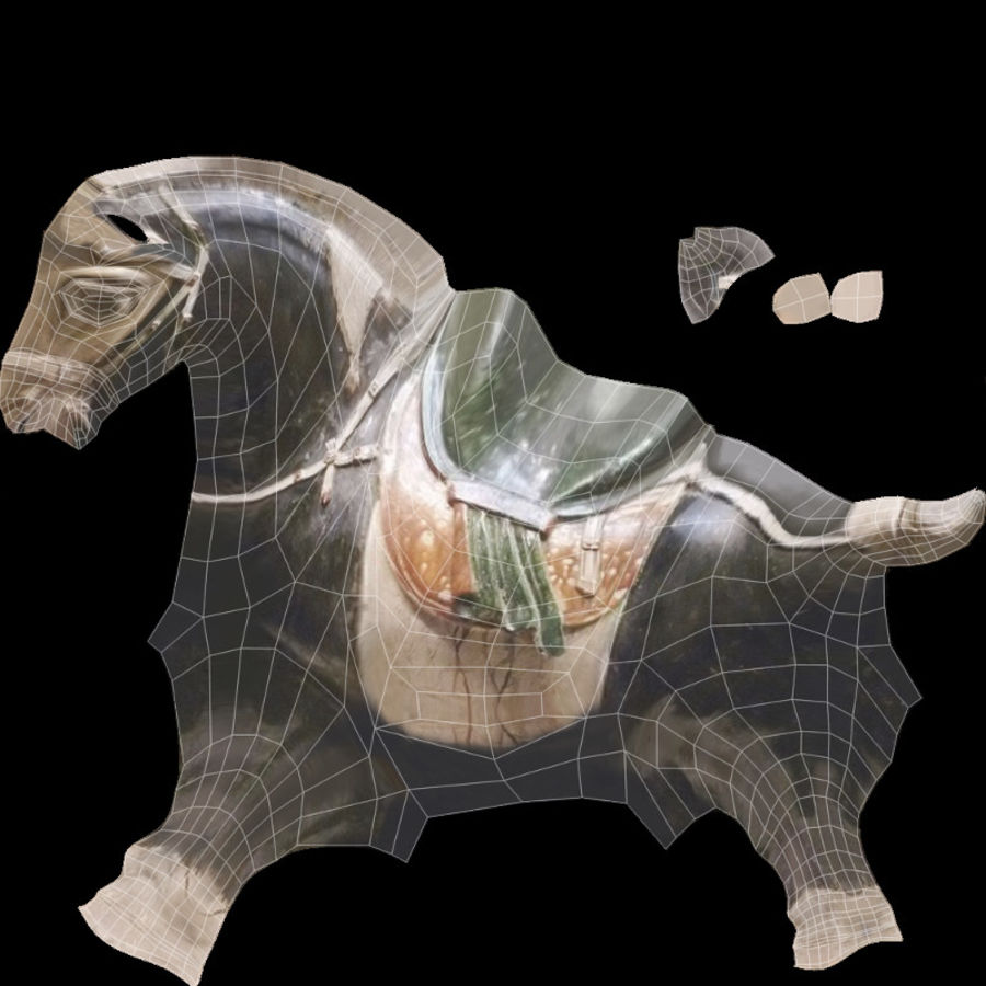 Horse Statuette (I) royalty-free 3d model - Preview no. 13