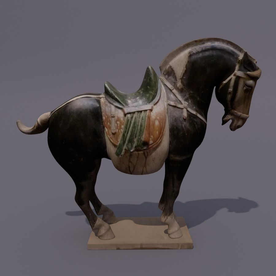Horse Statuette (I) royalty-free 3d model - Preview no. 5