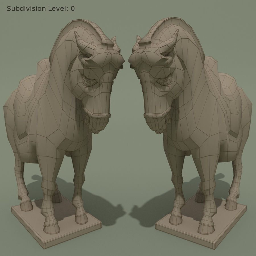 Horse Statuette (I) royalty-free 3d model - Preview no. 9