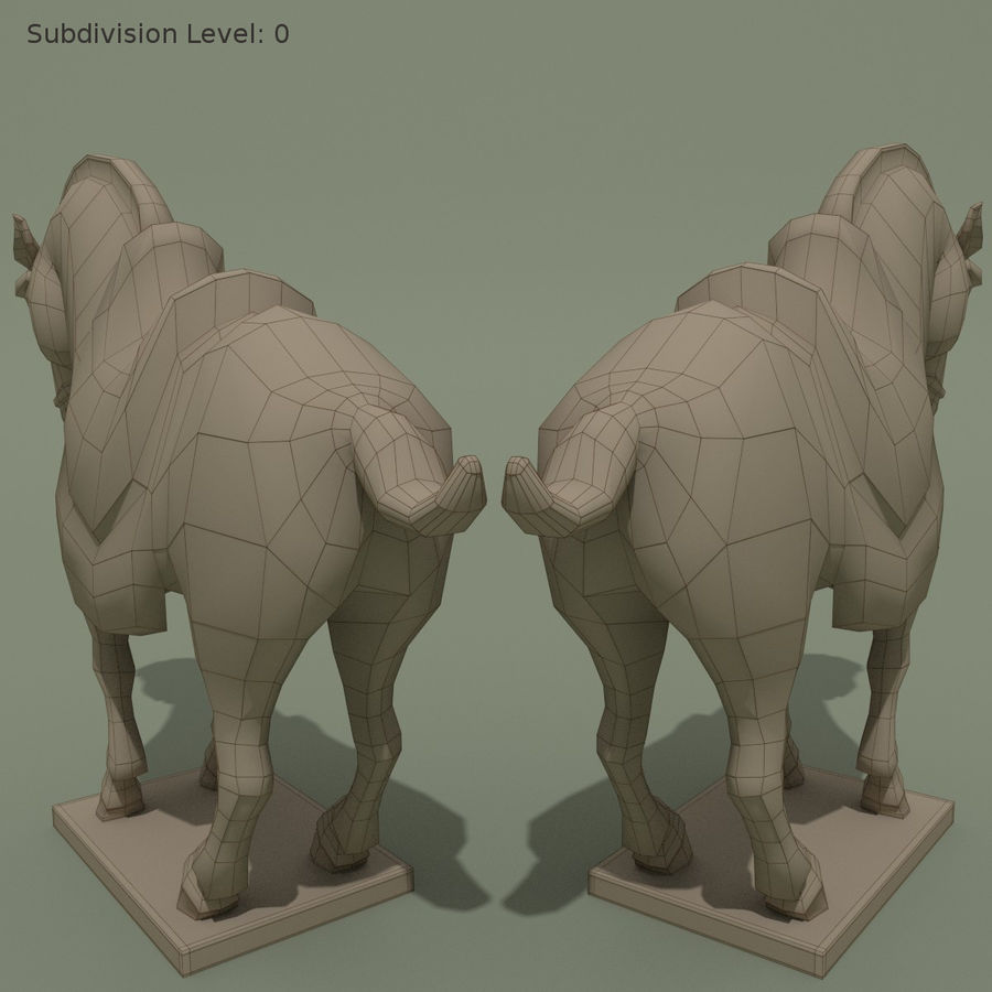 Horse Statuette (I) royalty-free 3d model - Preview no. 11
