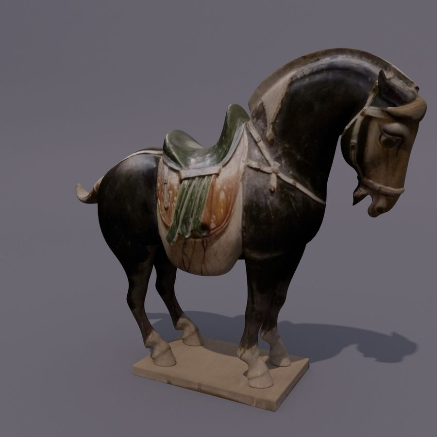 Horse Statuette (I) royalty-free 3d model - Preview no. 15