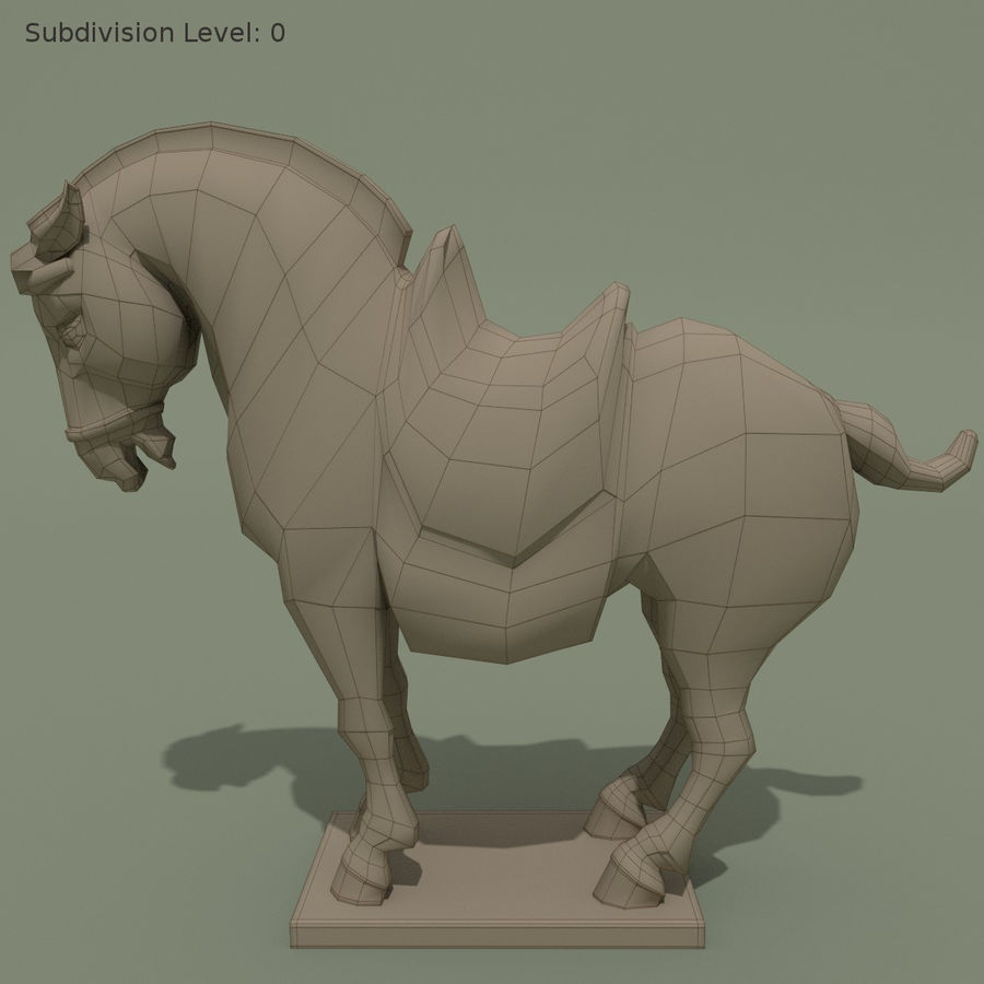 Horse Statuette (I) royalty-free 3d model - Preview no. 7