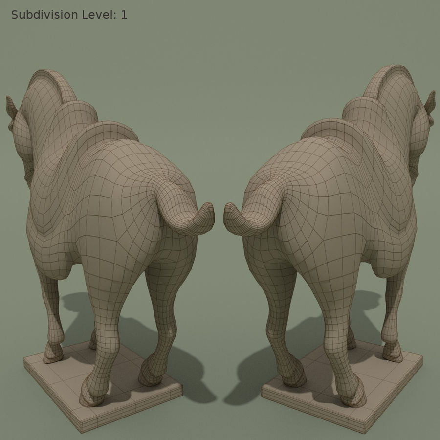 Horse Statuette (I) royalty-free 3d model - Preview no. 12