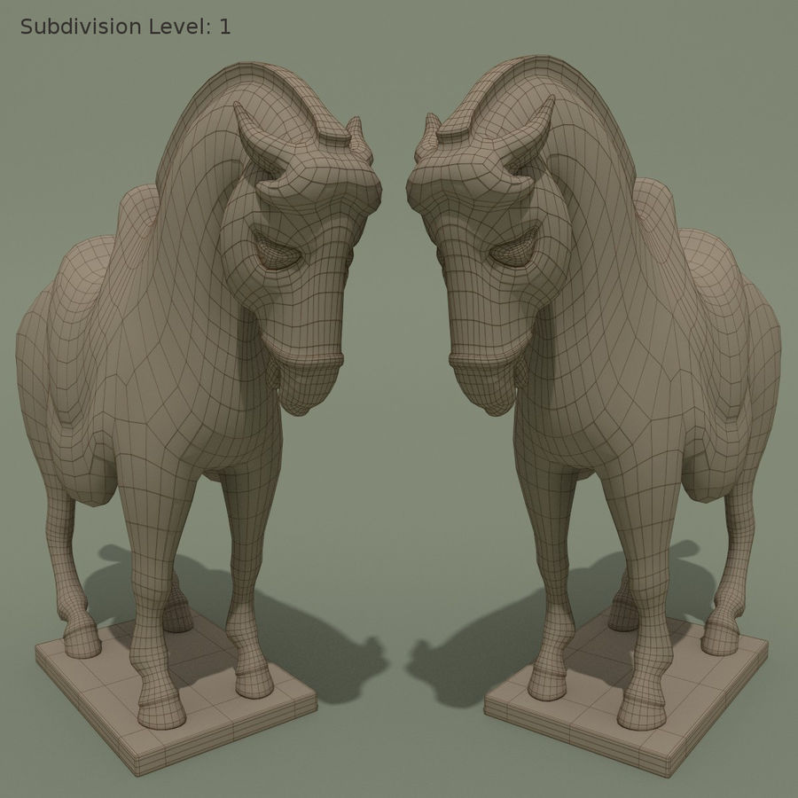 Horse Statuette (I) royalty-free 3d model - Preview no. 10