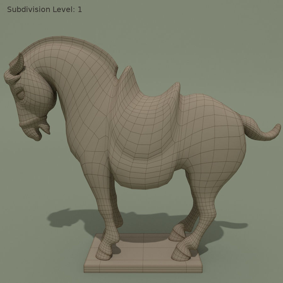 Horse Statuette (I) royalty-free 3d model - Preview no. 8