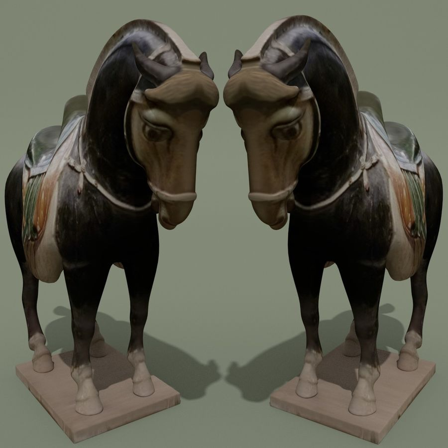 Horse Statuette (I) royalty-free 3d model - Preview no. 3
