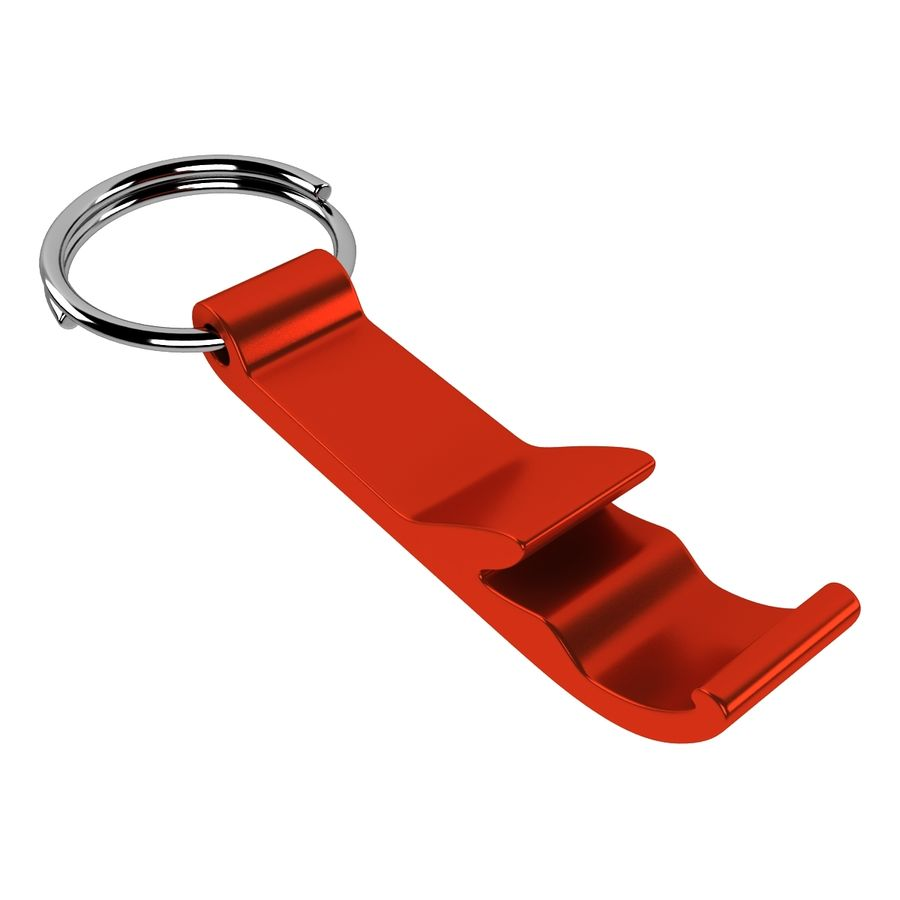 Keychain Bottle Opener royalty-free 3d model - Preview no. 5