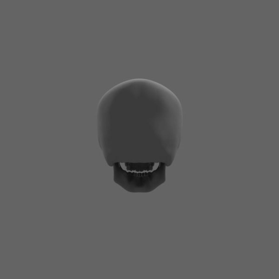 Human Skull royalty-free 3d model - Preview no. 5