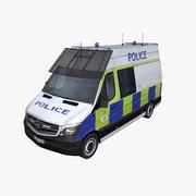 メルセデススプリンター2014年英国警察 3d model