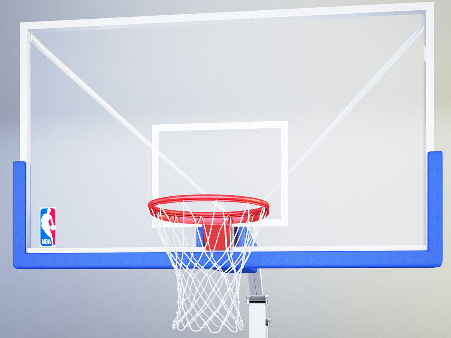 Basketball hoop royalty-free 3d model - Preview no. 5