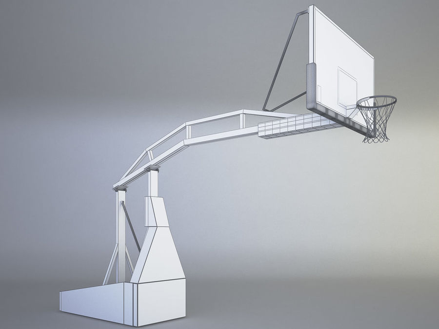 Basketball hoop royalty-free 3d model - Preview no. 6
