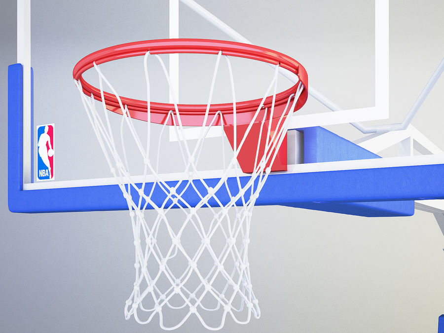 Basketball hoop royalty-free 3d model - Preview no. 3