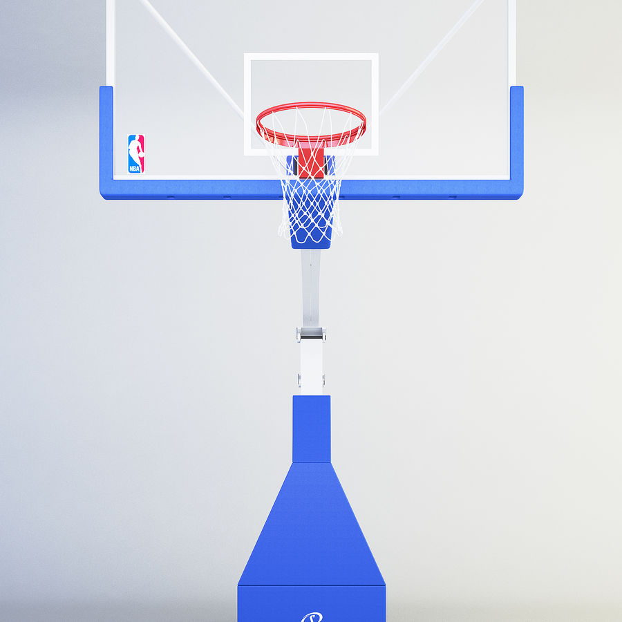 Basketball hoop royalty-free 3d model - Preview no. 1