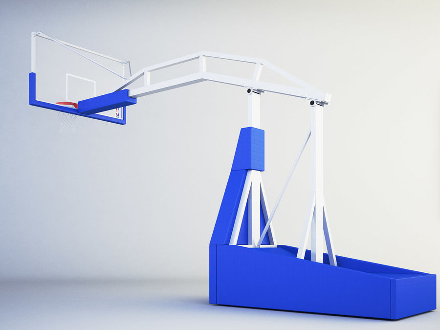 Basketball hoop royalty-free 3d model - Preview no. 4