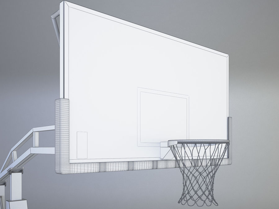 Basketball hoop royalty-free 3d model - Preview no. 7
