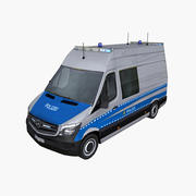Mercedes Sprinter 2014 German Police 3d model