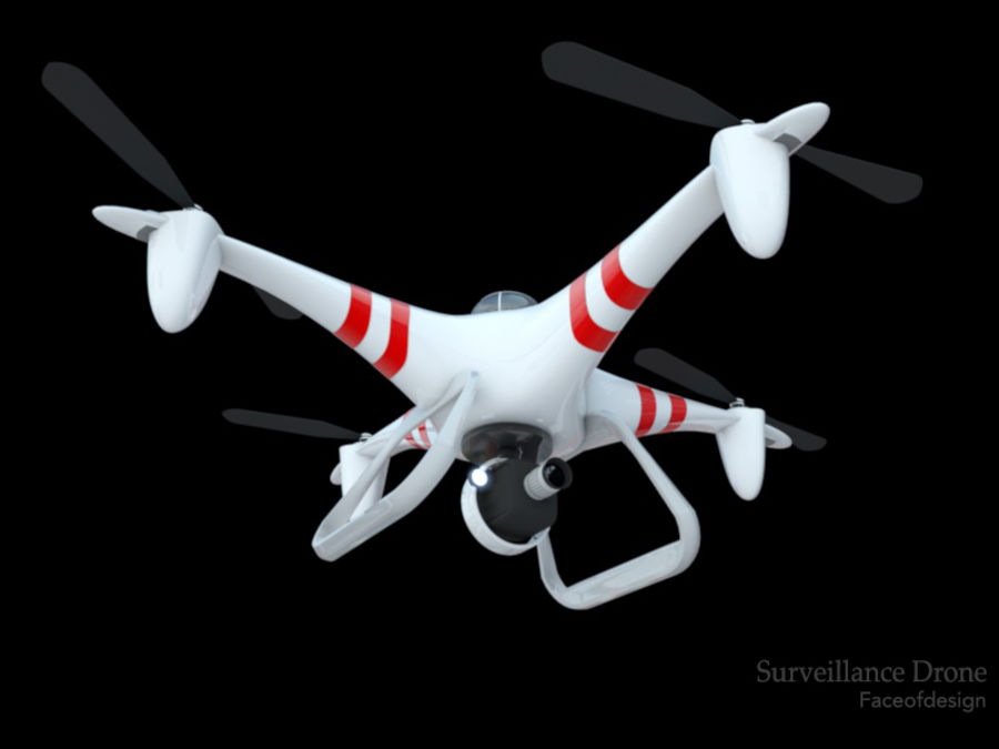 Quadcopter drone royalty-free 3d model - Preview no. 1