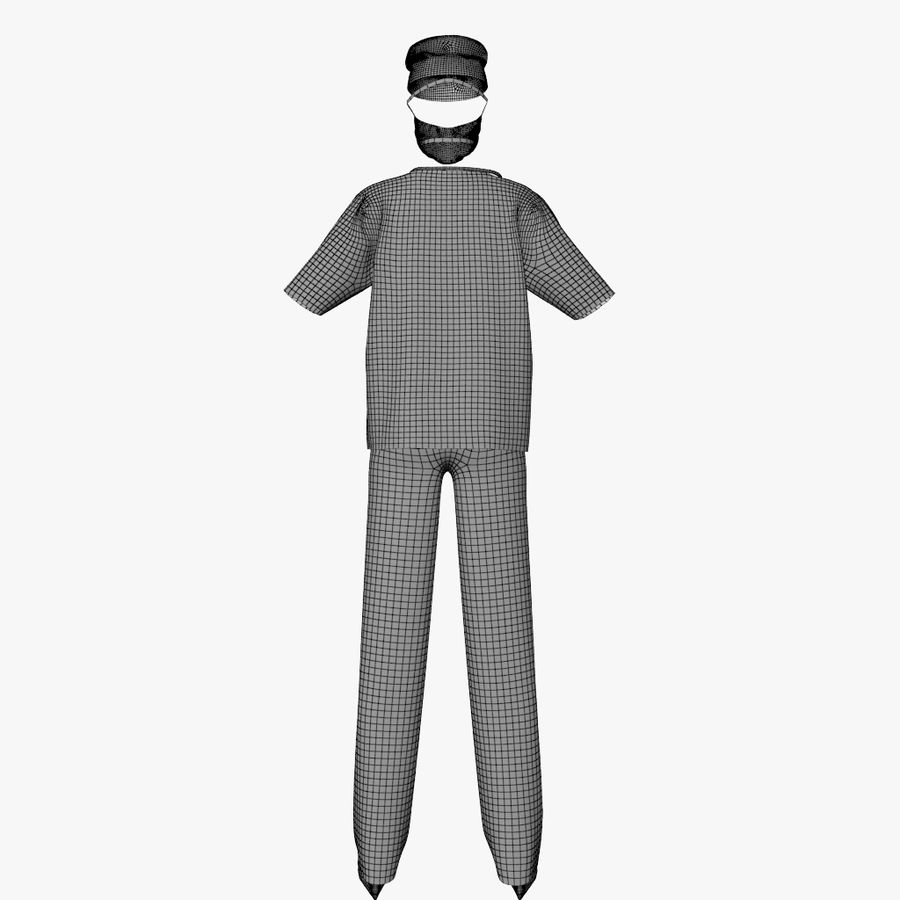 Clothes Doctor royalty-free 3d model - Preview no. 8