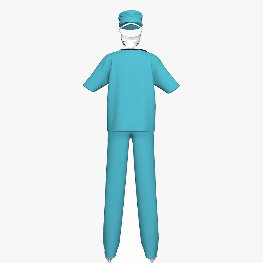 Clothes Doctor royalty-free 3d model - Preview no. 4