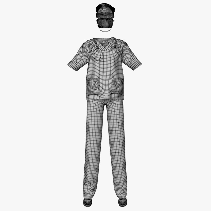 Clothes Doctor royalty-free 3d model - Preview no. 5