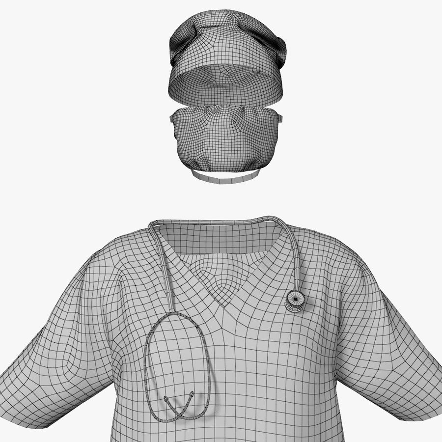 Clothes Doctor royalty-free 3d model - Preview no. 6