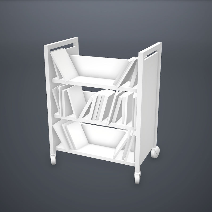 Kitap Sepeti royalty-free 3d model - Preview no. 6