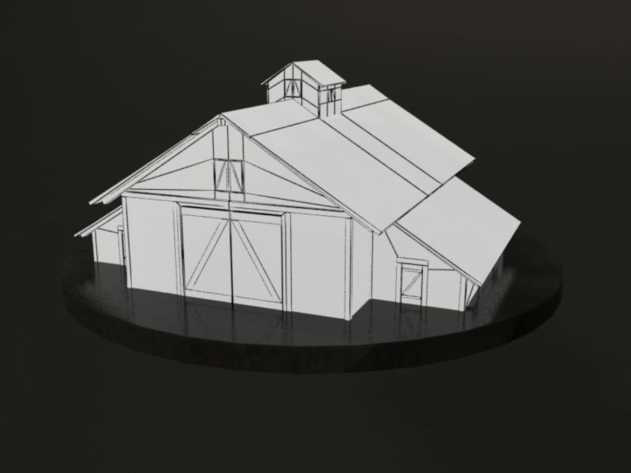 외양간 royalty-free 3d model - Preview no. 2